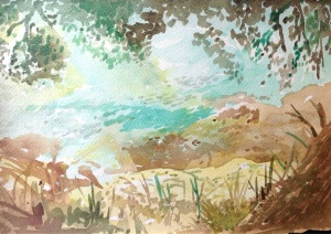 From memory landscape, watercolour