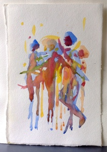Drum dance, drum camp sketchbook, 2013.