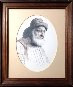 Pencil, framed